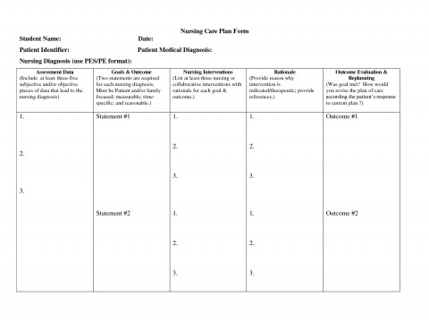 000 Sensational Nursing Care Plan Template High Resolution  Free Pdf Download480