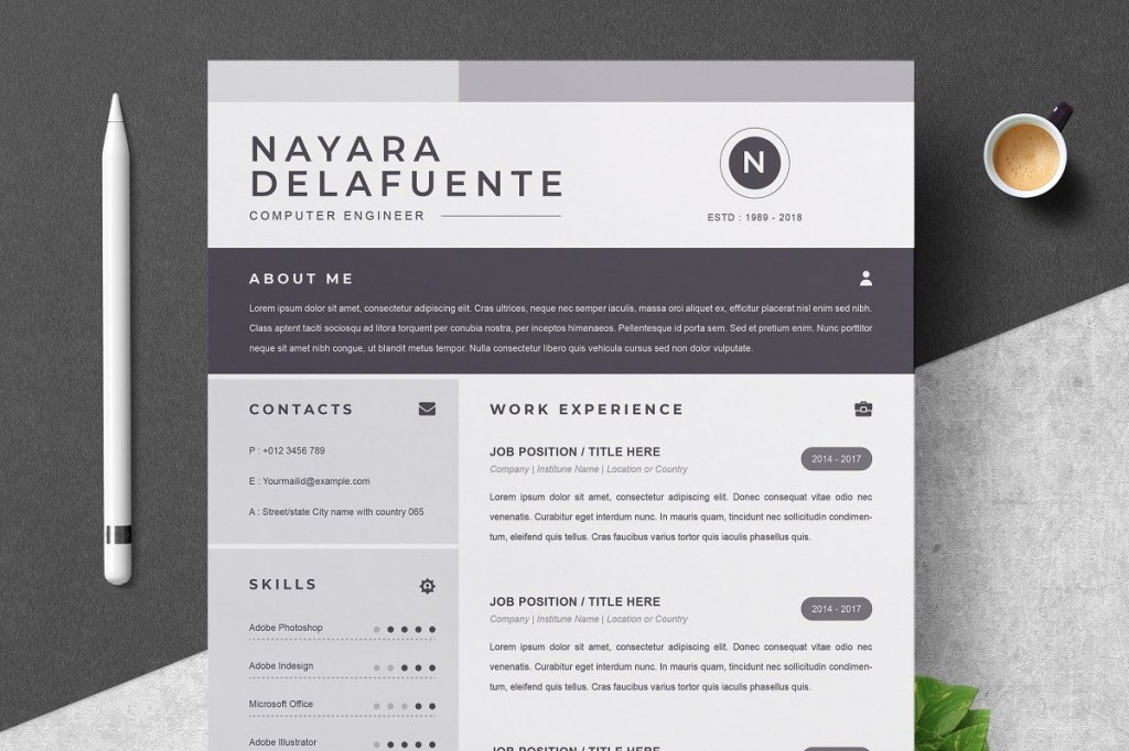 000 Sensational One Page Resume Template Highest Quality  Templates Microsoft Word FreeLarge