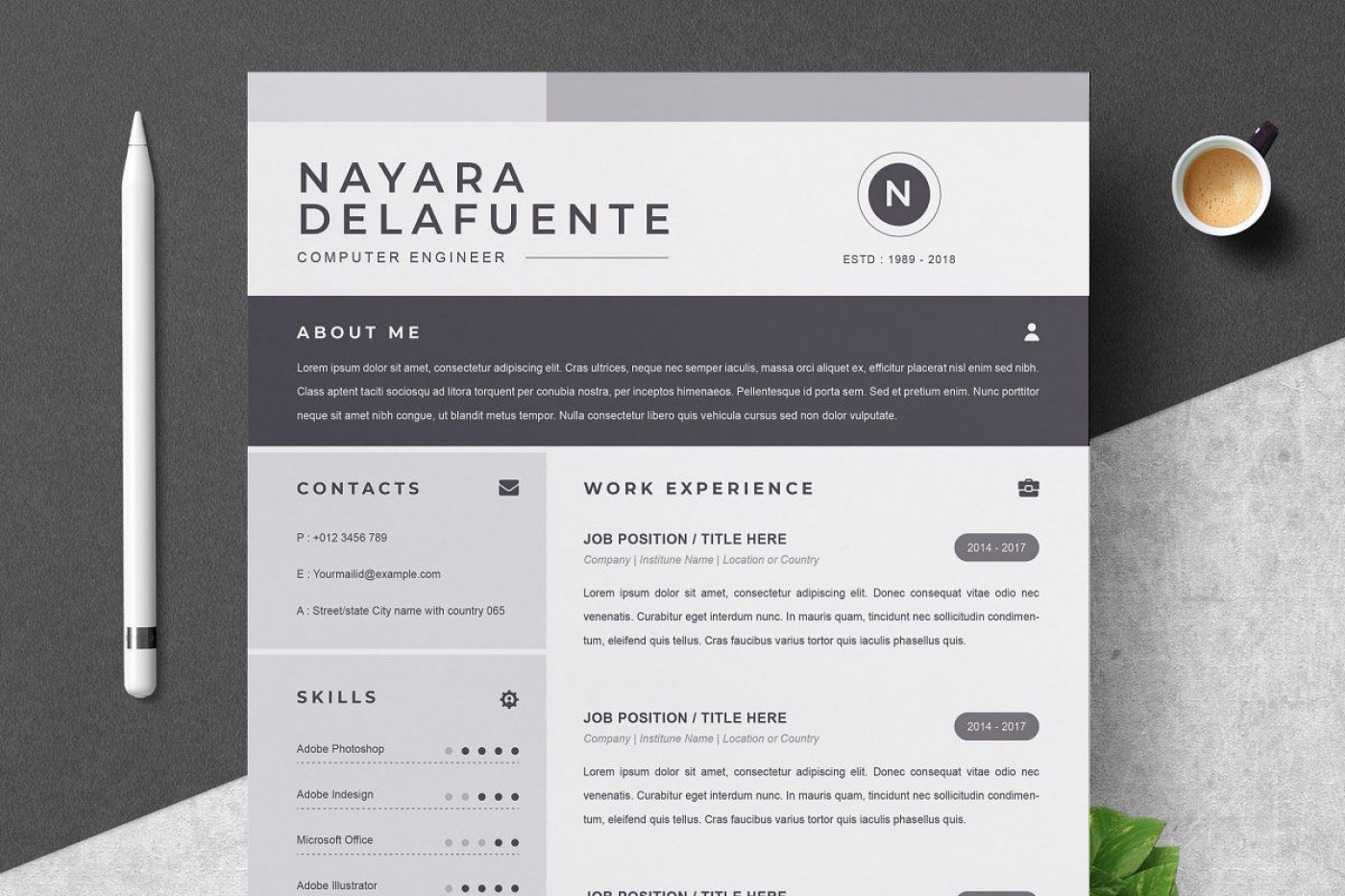 000 Sensational One Page Resume Template Highest Quality  Word Free For Fresher Ppt Download Html1400