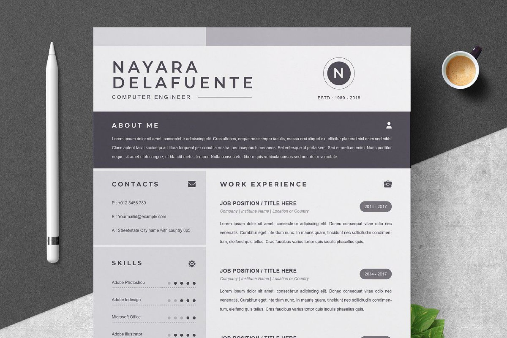 000 Sensational One Page Resume Template Highest Quality  Templates Microsoft Word Free1920