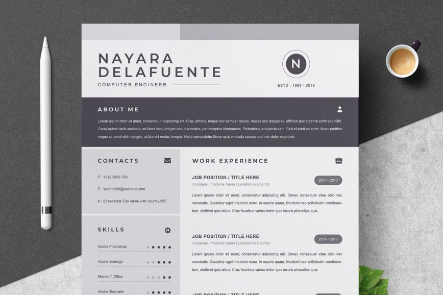 000 Sensational One Page Resume Template Highest Quality  Word Free For Fresher Ppt Download Html868