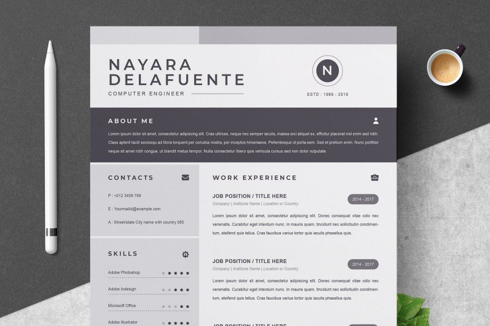 000 Sensational One Page Resume Template Highest Quality  Word Free For Fresher Ppt Download Html960