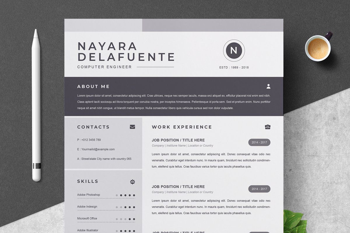 000 Sensational One Page Resume Template Highest Quality  Templates Microsoft Word FreeFull