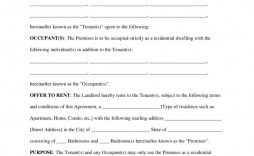 000 Sensational Rental Agreement Template Free Sample  Tenancy Rent Pdf