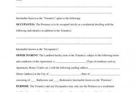 000 Sensational Rental Agreement Template Free Sample  Tenancy Form Download Word