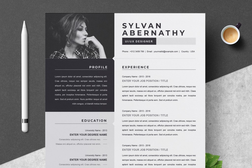 000 Sensational Single Page Resume Template Inspiration  Cascade One Free Download Word For FresherLarge
