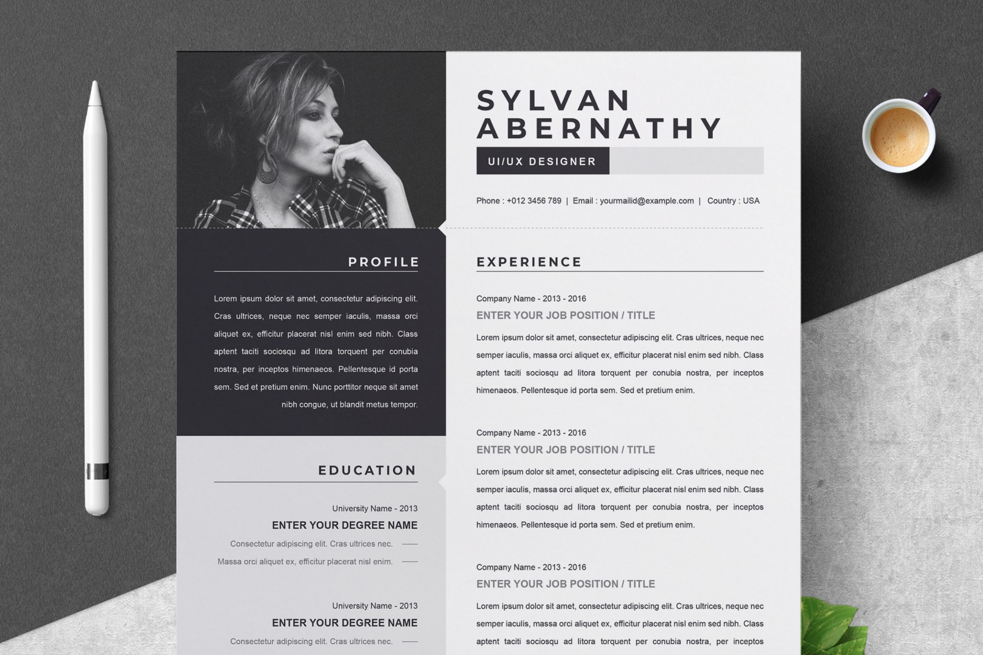 000 Sensational Single Page Resume Template Inspiration  Cascade One Free Download Word For Fresher1920