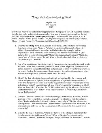 000 Sensational Thing Fall Apart Essay High Definition 360