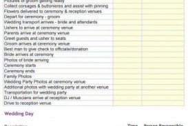 000 Sensational Wedding Day Itinerary Template High Def  Sample Excel Word