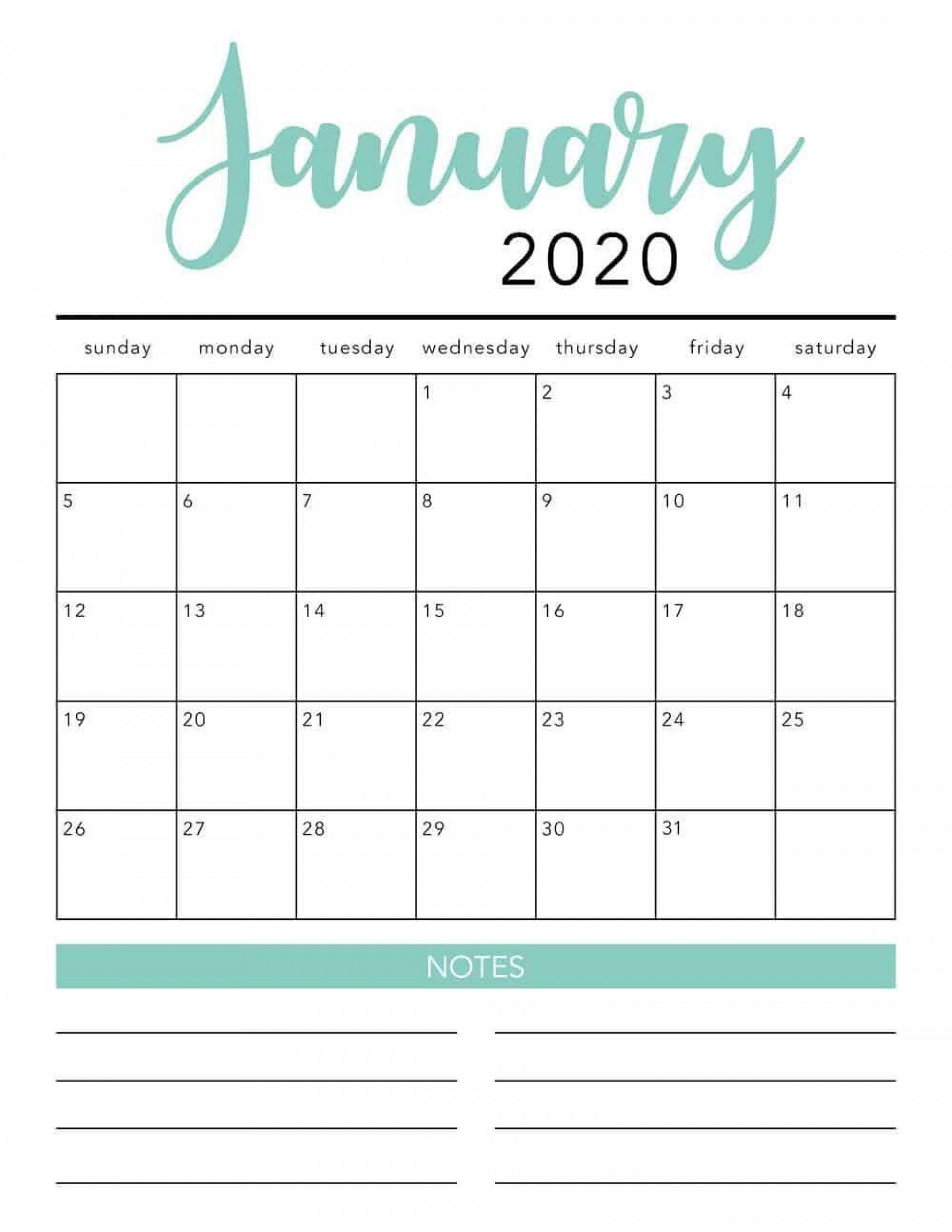 000 Shocking 2020 Monthly Calendar Template Photo  Templates Word Australian Free1920