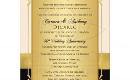 000 Shocking 50th Wedding Anniversary Invitation Sample Example  Samples Free Party Template Card Idea