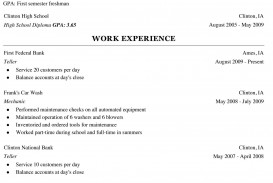 000 Shocking College Freshman Resume Template Image