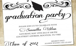 000 Shocking College Graduation Party Invitation Template Photo  Templates