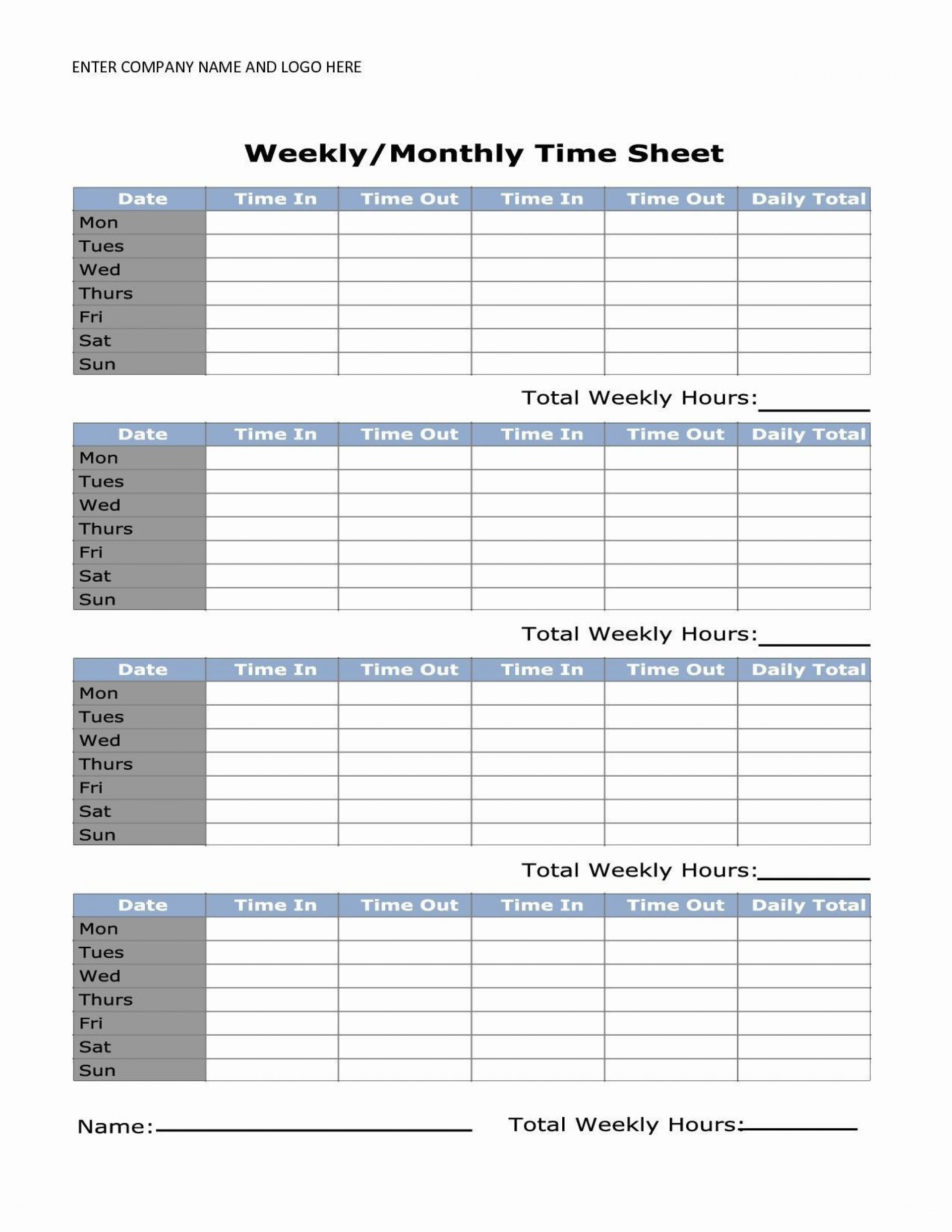 000 Shocking Daily Timesheet Template Free Printable High Resolution 1920
