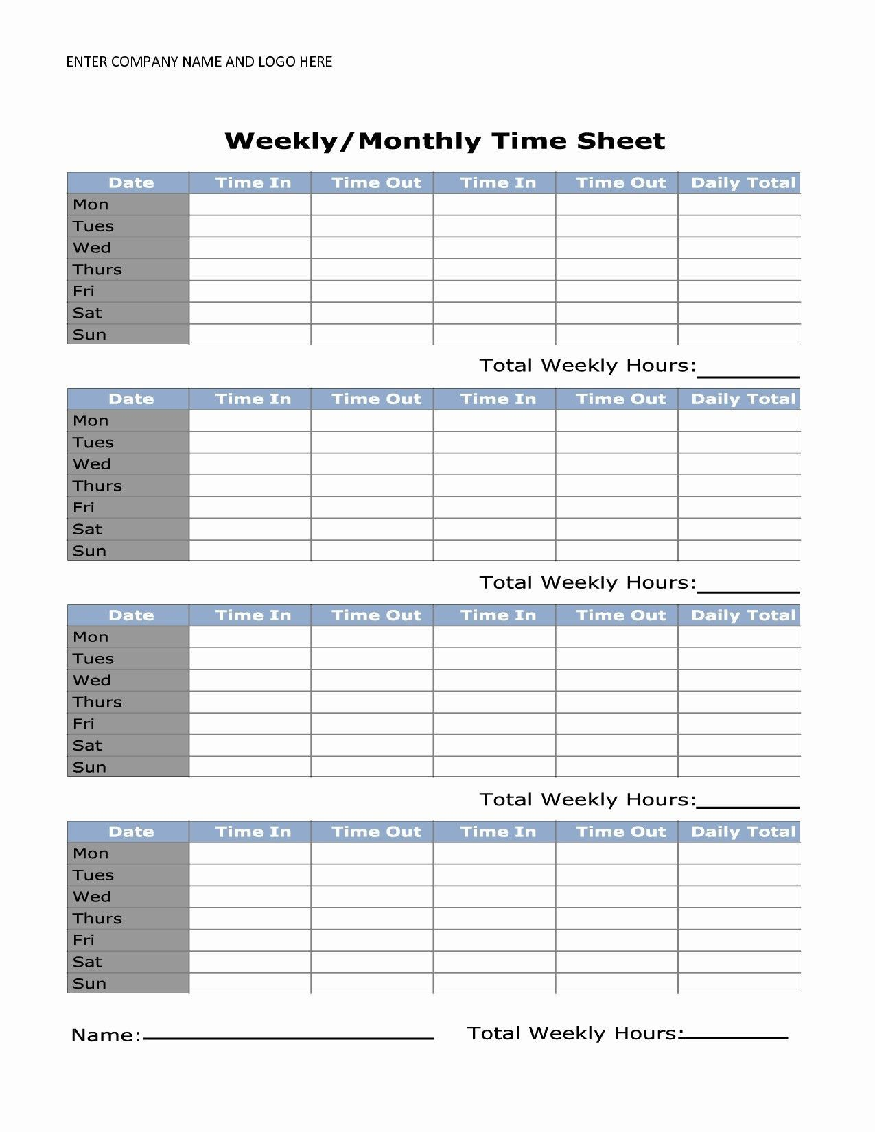000 Shocking Daily Timesheet Template Free Printable High Resolution Full