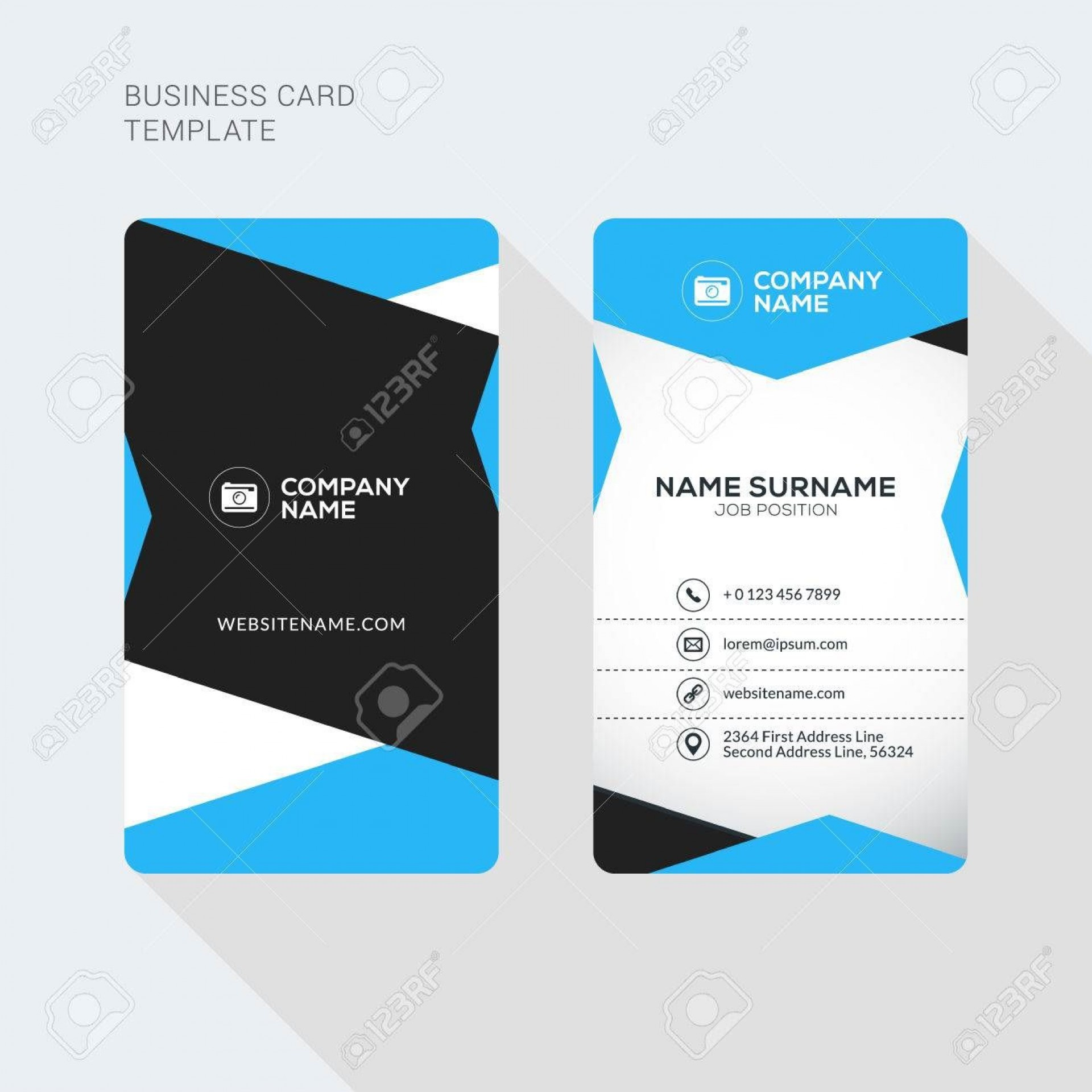 000 Shocking Double Sided Busines Card Template Photo  Templates Word Free Two Microsoft1920