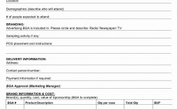 000 Shocking Event Sponsorship Form Template High Resolution  Sponsor Request