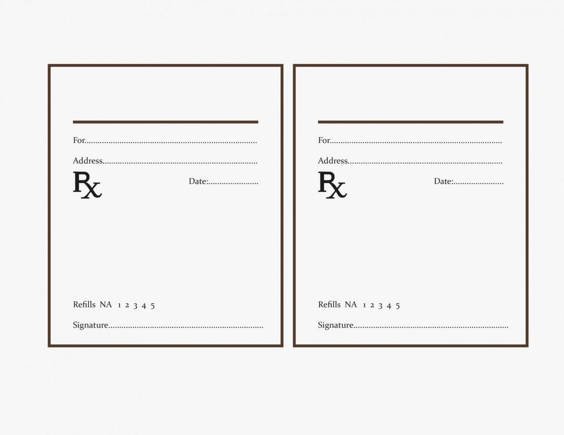 000 Shocking Fake Prescription Bottle Label Template Sample 1920