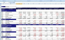 000 Shocking Financial Statement Template Excel Inspiration  Consolidation Personal Free Download