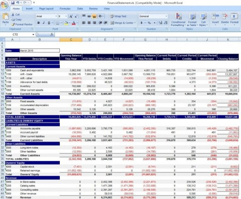 000 Shocking Financial Statement Template Excel Inspiration  Personal Example Interim Free Download480