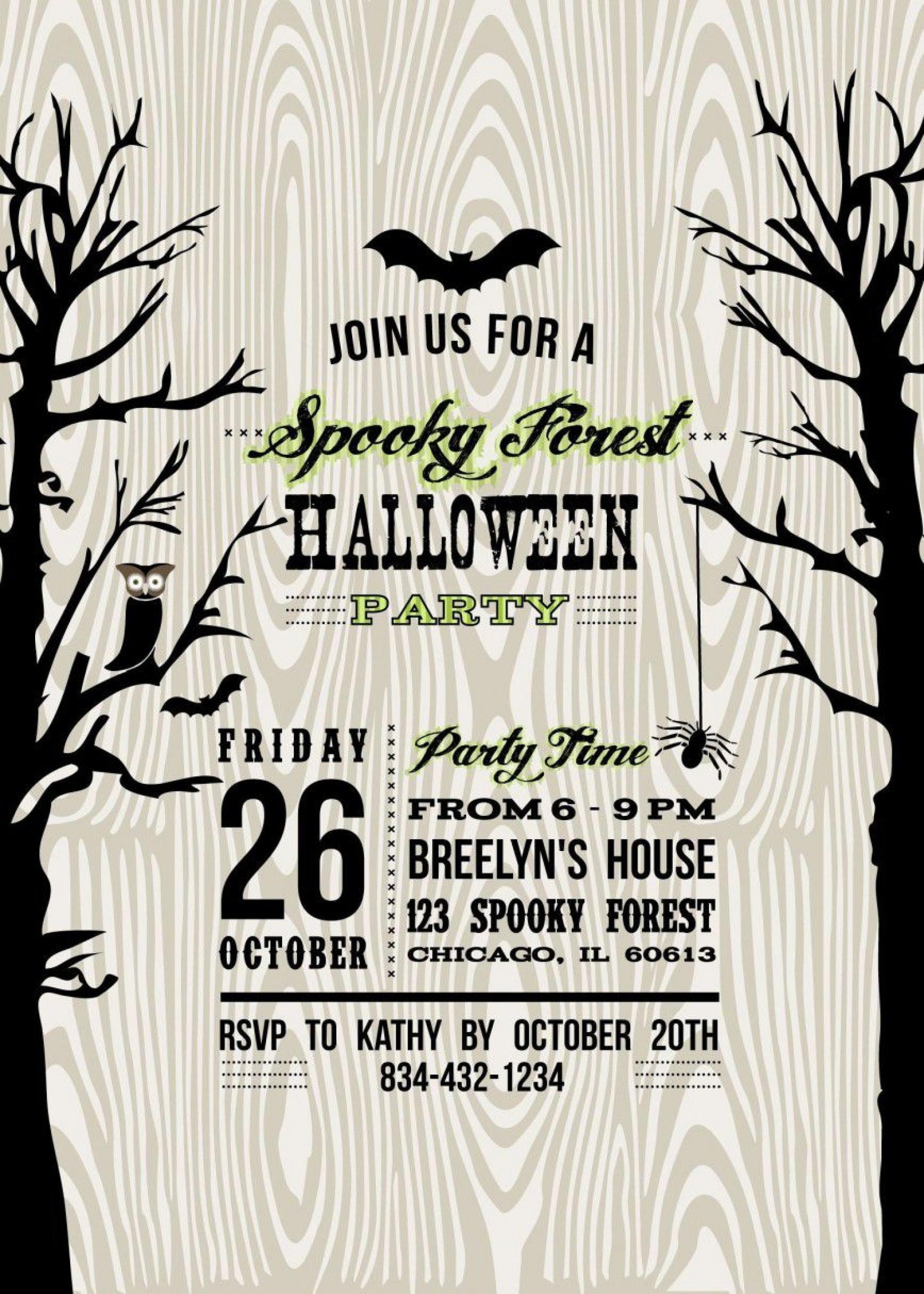 000 Shocking Free Halloween Invitation Template High Def  Templates Microsoft Word Wedding Printable Party1920
