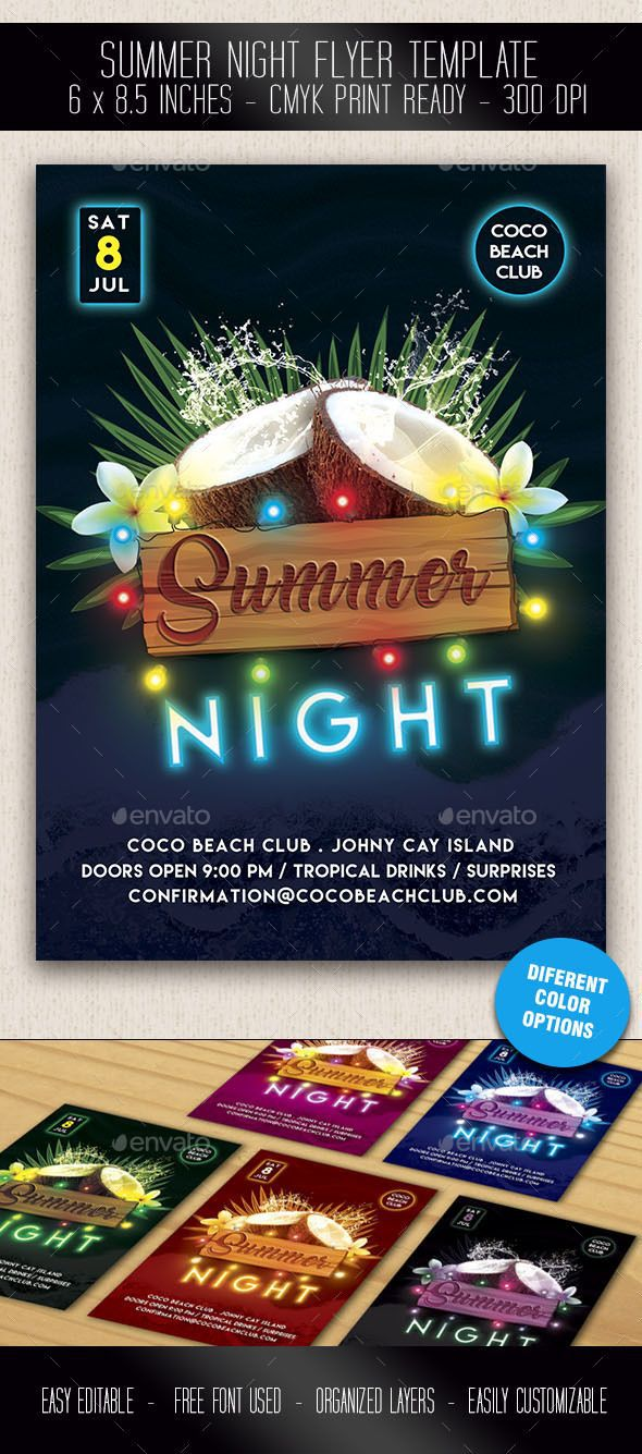 000 Shocking Free Party Flyer Template For Mac Highest Quality Full