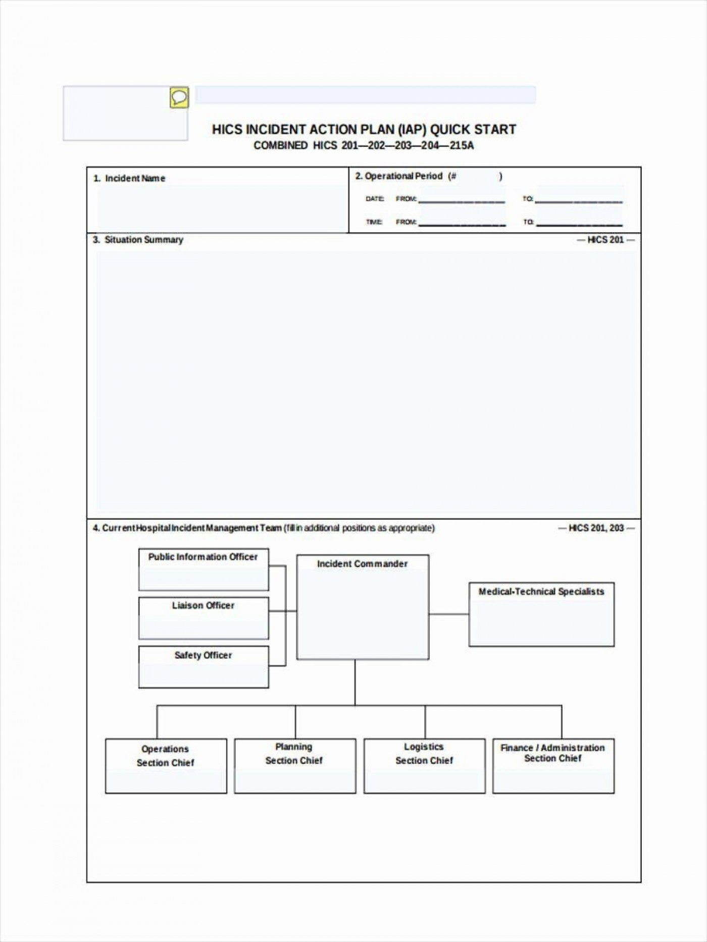 000 Shocking Incident Action Plan Template High Definition  Fire Example Format Form 2011400