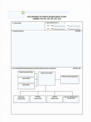 000 Shocking Incident Action Plan Template High Definition  Fire Example Format Form 201320