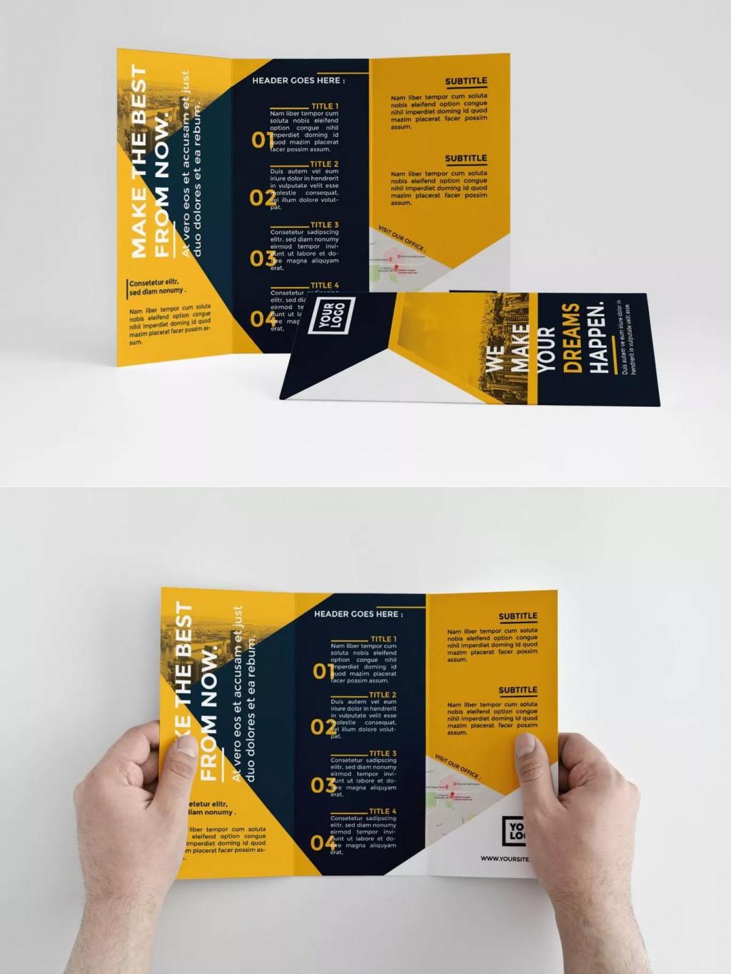 000 Shocking Indesign Trifold Brochure Template Inspiration  Tri Fold A4 Bi Free DownloadLarge