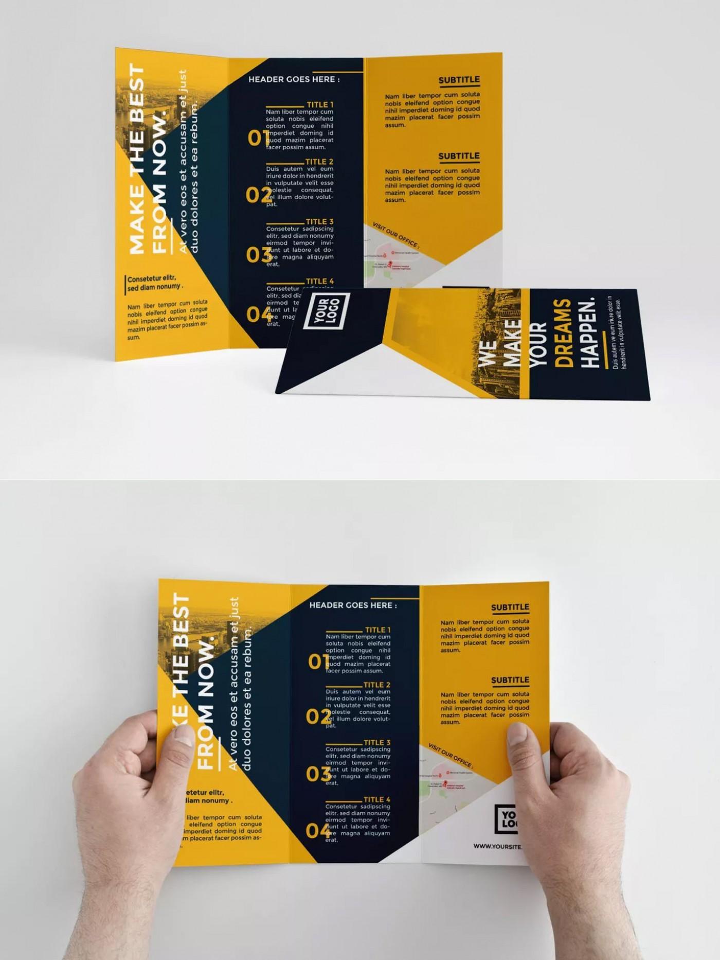 000 Shocking Indesign Trifold Brochure Template Inspiration  Tri Fold A4 Bi Free Download1400