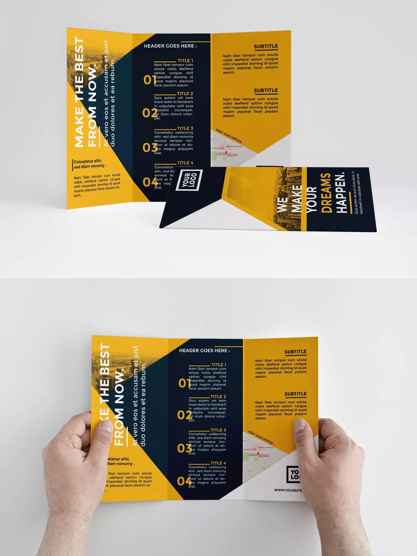 000 Shocking Indesign Trifold Brochure Template Inspiration  Tri Fold A4 Bi Free DownloadFull