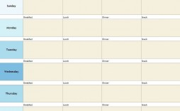 000 Shocking Meal Plan Template Excel Image  Monthly Macro