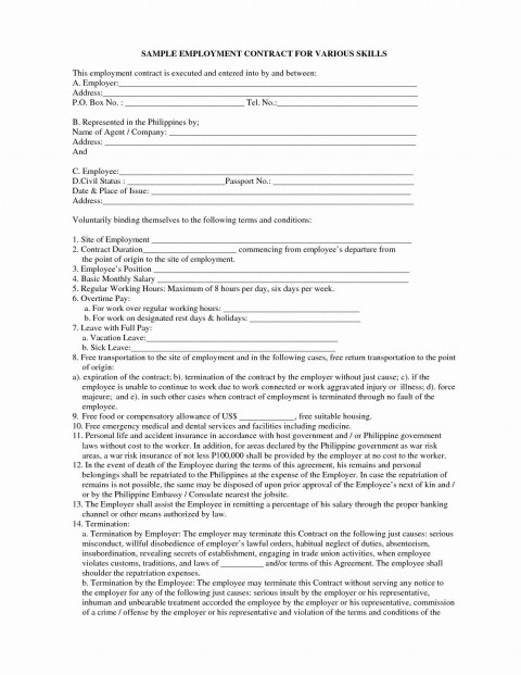 000 Shocking Property Management Contract Sample Philippine 480