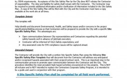 000 Shocking Site Specific Safety Plan Template High Resolution  Construction Example Word Doc Nz