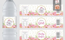 000 Shocking Water Bottle Label Template Free Picture  Word Superhero Photoshop