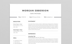 000 Simple 1 Page Resume Template High Def  Templates One Basic Word Free Html Download