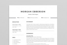 000 Simple 1 Page Resume Template High Def  One Microsoft Word Free For Fresher