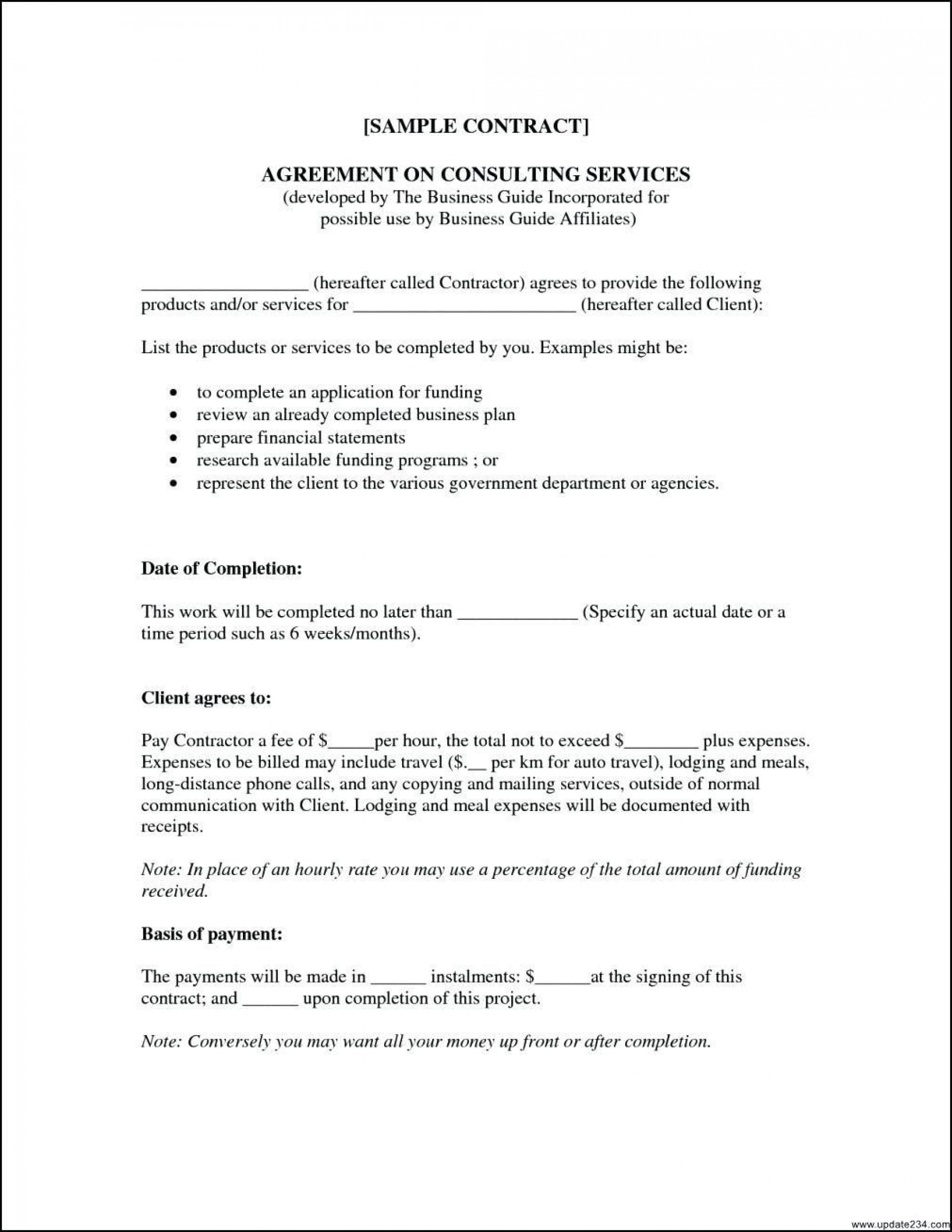 000 Simple Consulting Service Agreement Template Photo  Sample With Retainer Form Australia1920