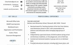 000 Simple Cv Template For Teaching Concept  Sample Teacher Assistant Modern Word Free Download Job