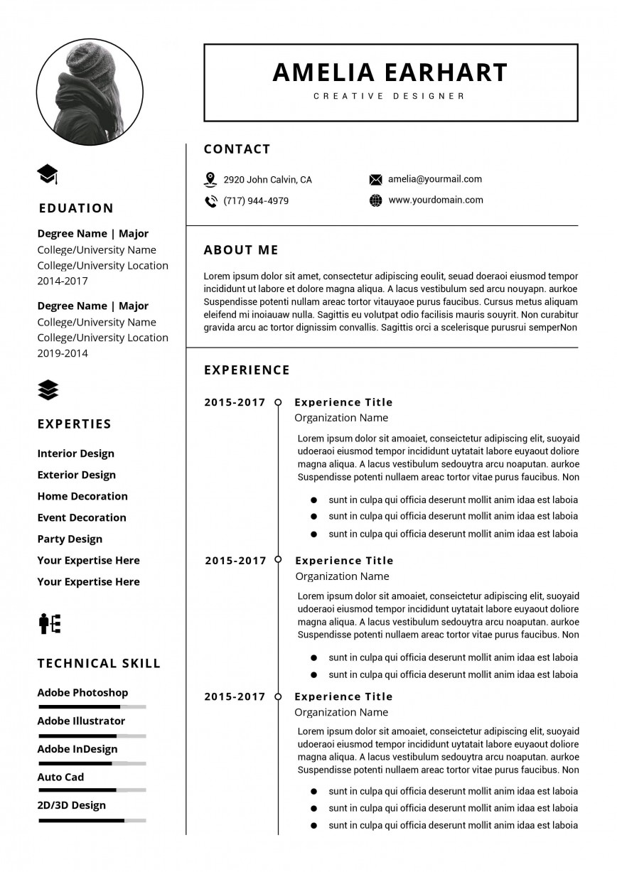 000 Simple Download Elegant Resume Template Microsoft Word Picture