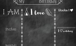 000 Simple First Birthday Chalkboard Template Idea  Diy Printable Free