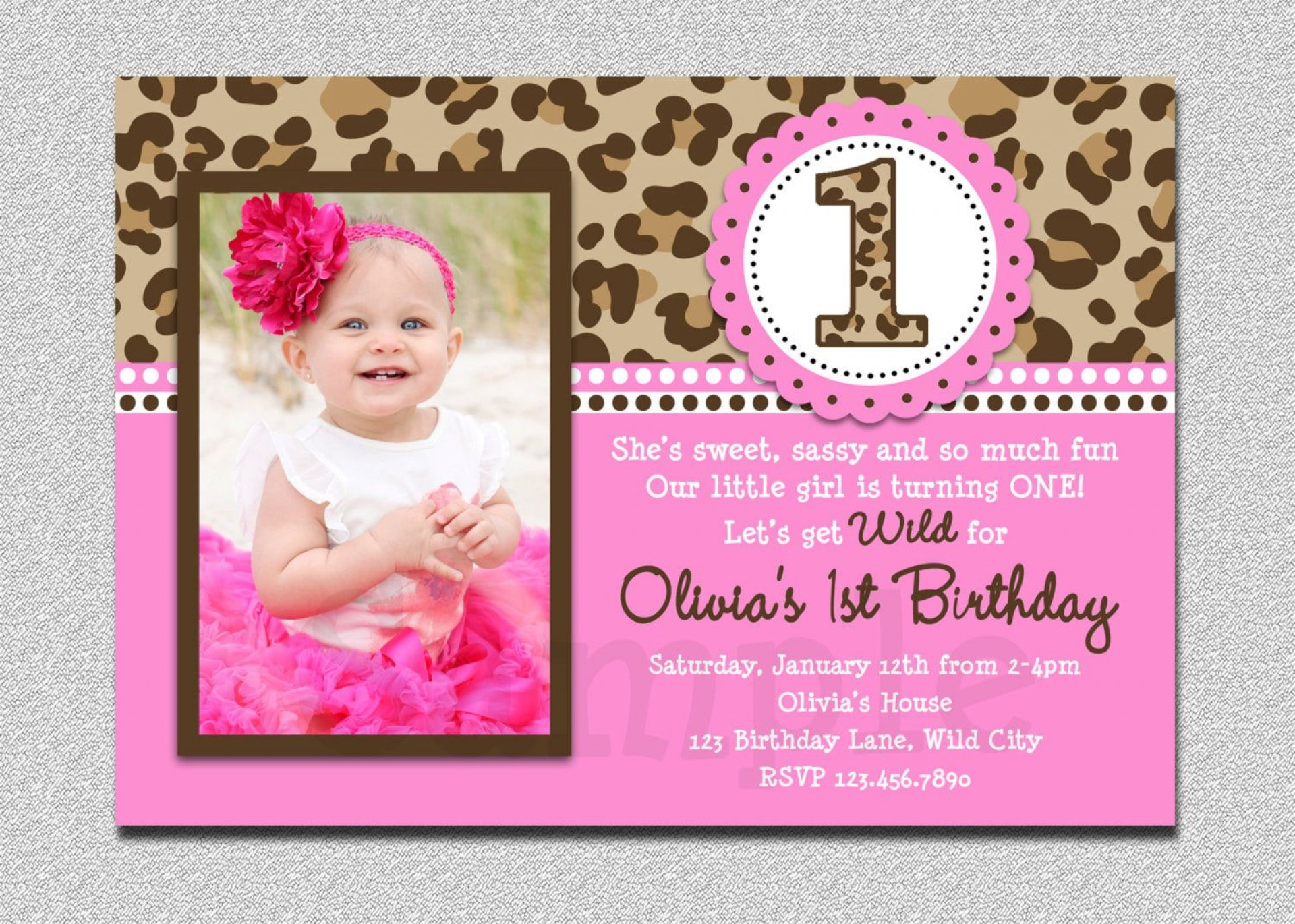000 Simple Free 1st Birthday Invitation Template For Word Inspiration 1920