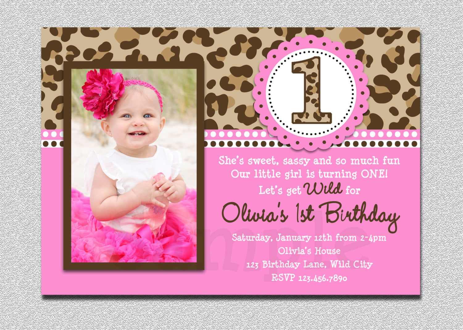 000 Simple Free 1st Birthday Invitation Template For Word Inspiration Full
