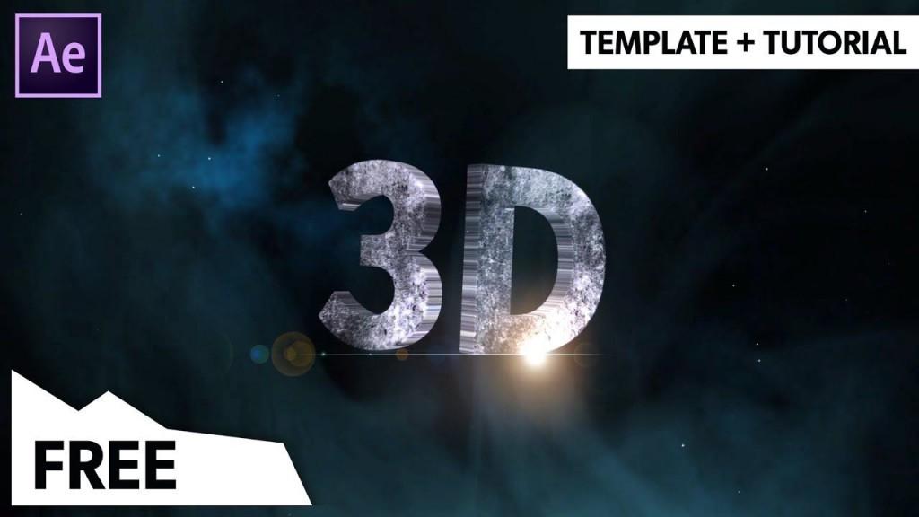 000 Simple Free After Effect Template  3d Logo Animation Inspiration - V2 DownloadLarge