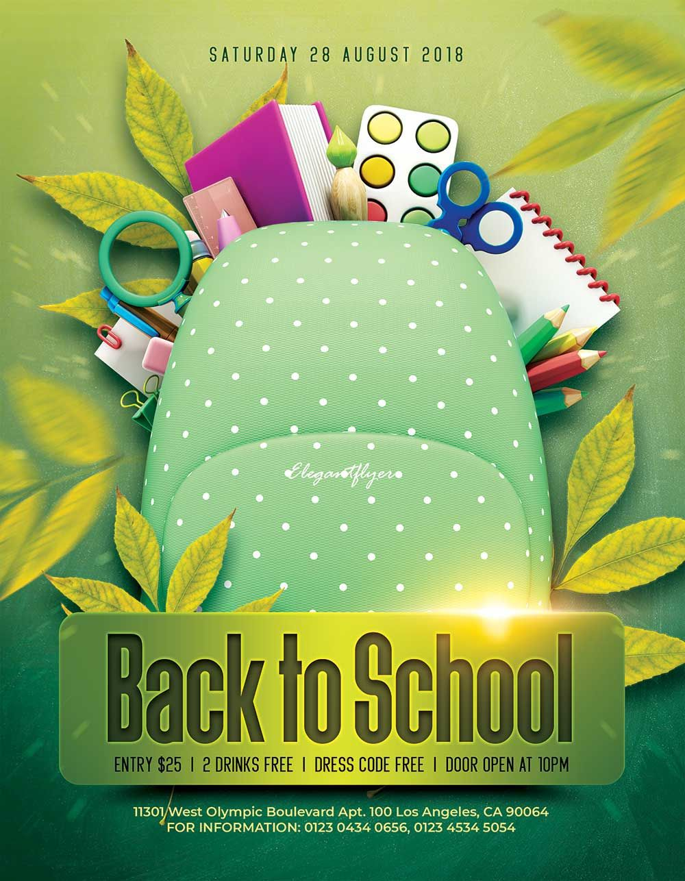 000 Simple Free Back To School Flyer Template Psd Design Full