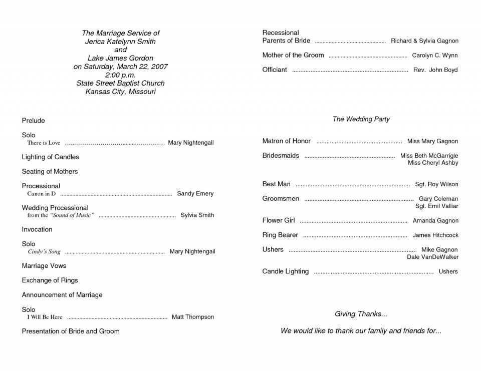 000 Simple Free Church Christma Program Template Photo 960