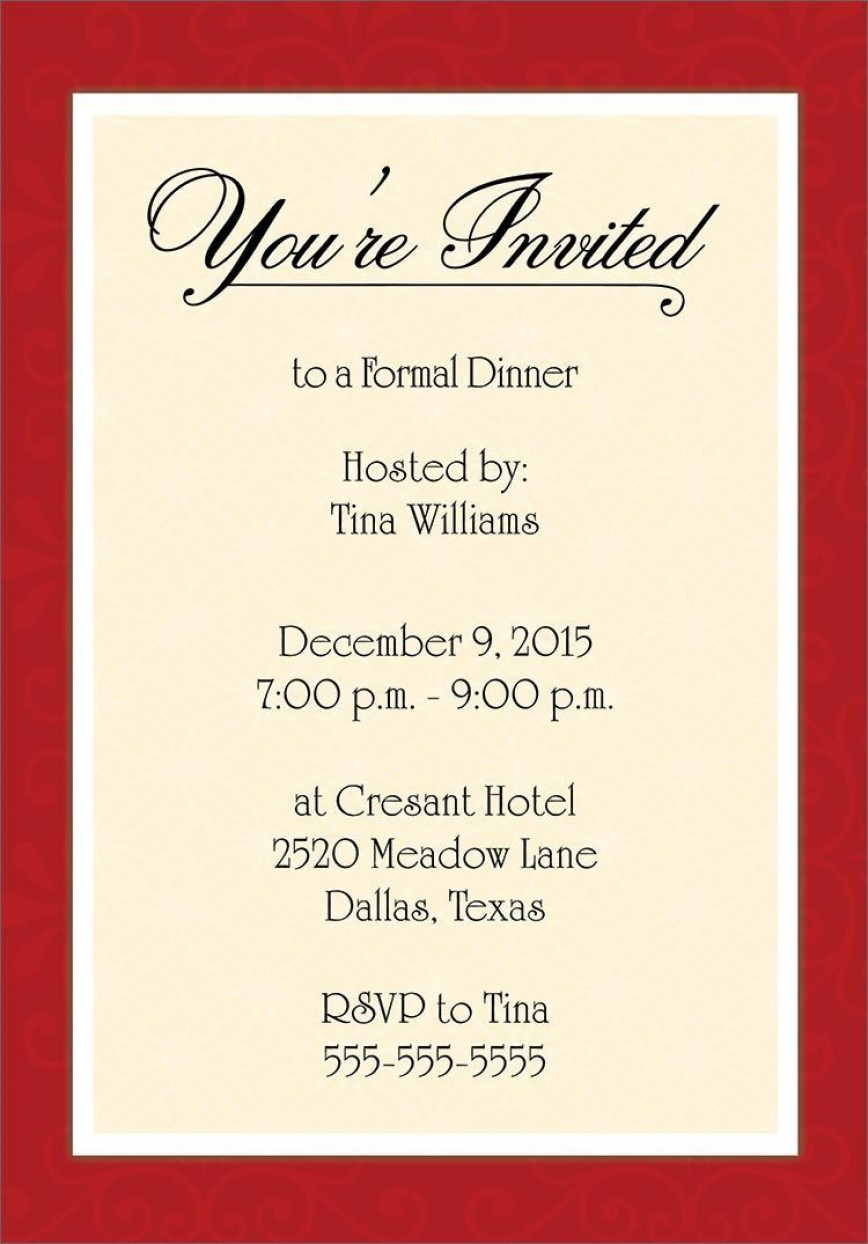 Free Dinner Invitation Templates ~ Addictionary