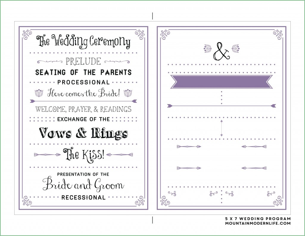 000 Simple Free Download Template For Wedding Program Highest Clarity  ProgramsLarge