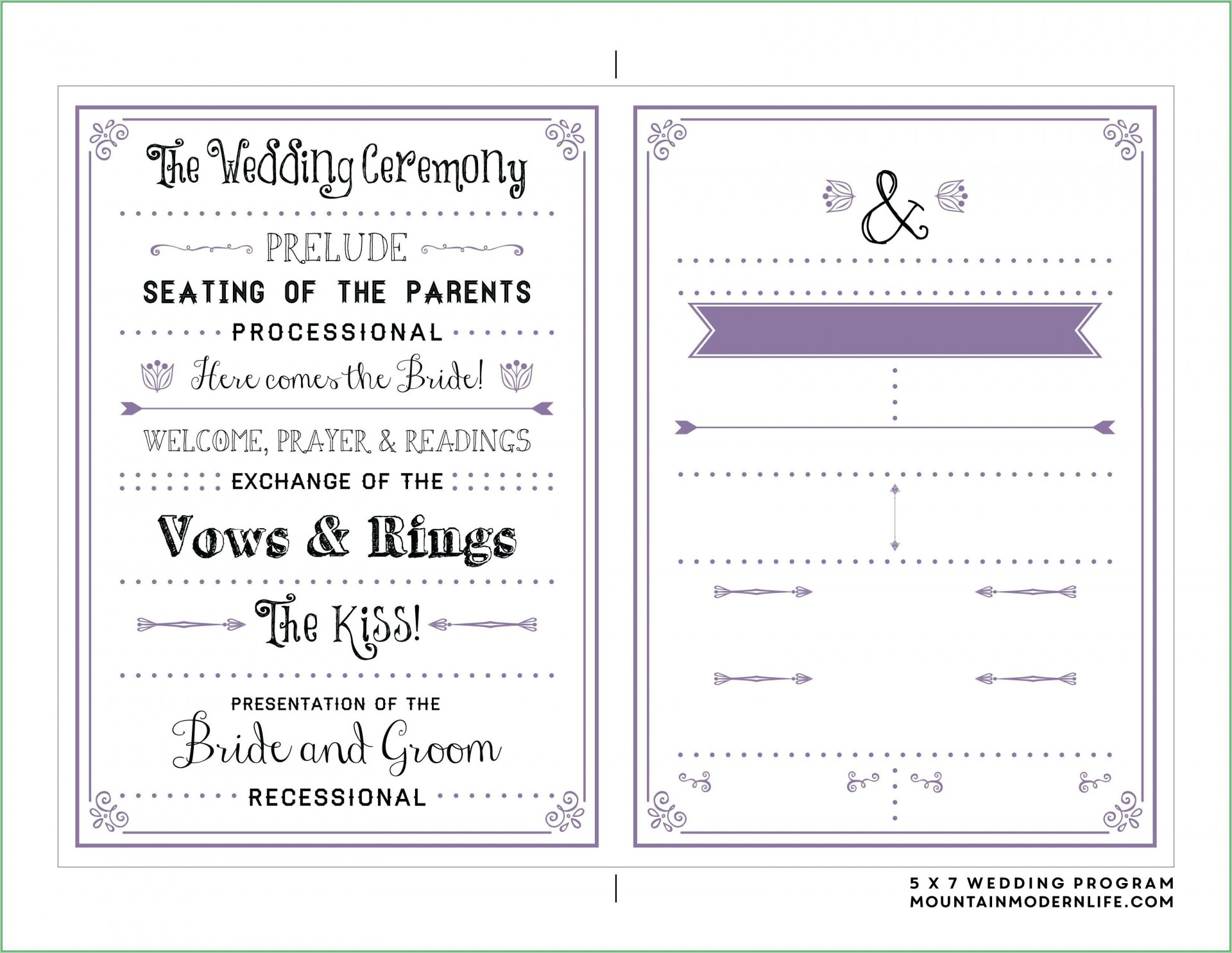 000 Simple Free Download Template For Wedding Program Highest Clarity  Programs1920