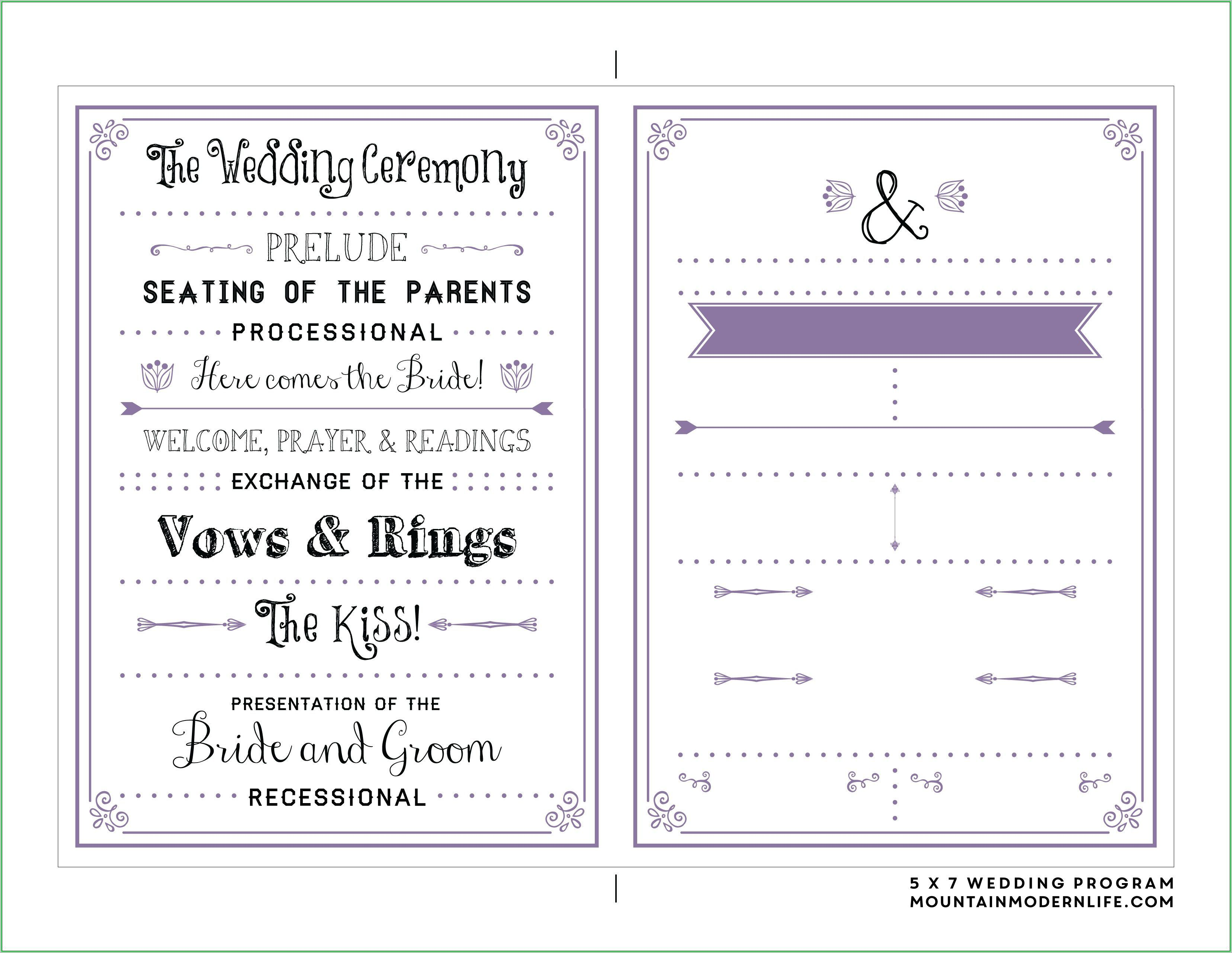 000 Simple Free Download Template For Wedding Program Highest Clarity  ProgramsFull